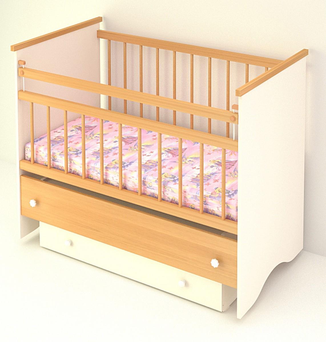 Детская маятниковая кроватка своими руками