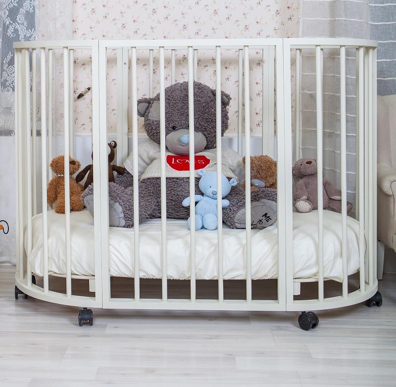 Овальная кроватка для новорожденных недорого